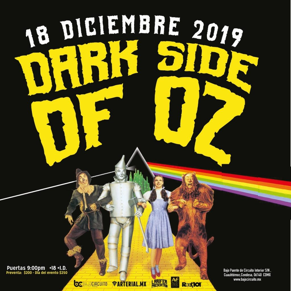 Dark Side Of Oz Celebra 80 Años Del Mago De Oz Robotto Mx
