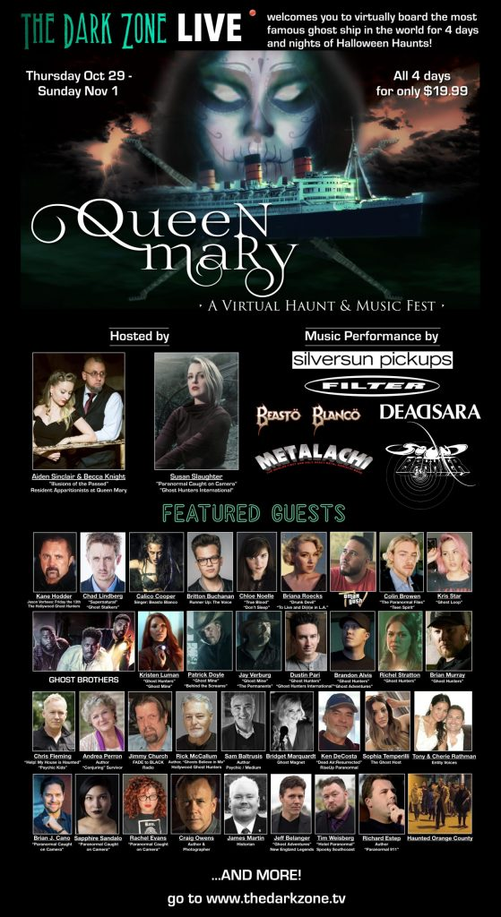 Queen Mary Live: A Virtual Haunt & Music Fest